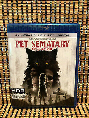 Pet Sematary (1-Disc Blu-ray, 2019)Remake.Stephen King/Jason Clarke.Horror