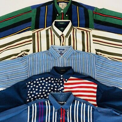 30 x 90s STRIPE SHIRTS / STRIPED SHIRT - GRADE A - BULK VINTAGE WHOLESALE