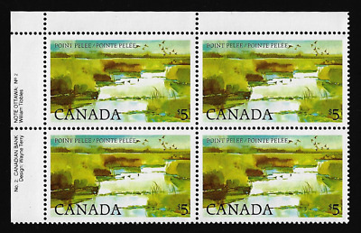 Canada — Block of 4 UL (Plate 2) — Point Pelee National Park #937i — MNH