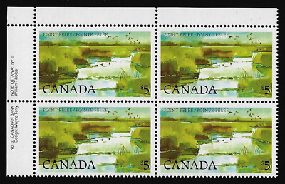 Canada — Block of 4 UL (Plate 3) — Point Pelee National Park #937ii — MNH
