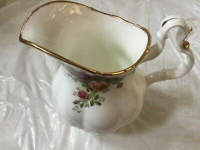 #2 RARE FIND Royal Albert Old Country Roses Water Pitcher ENGLAND RARE