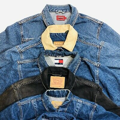 30 x BRANDED DENIM JACKETS - GRADE A & B MIX - BULK VINTAGE WHOLESALE