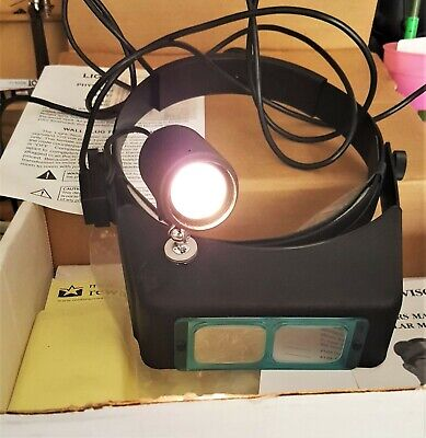 Binocular Head Magnifier With Bright Halogen Light