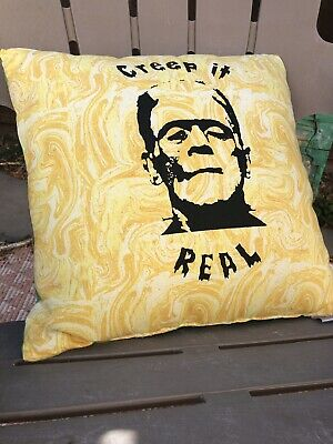 "Pillow Case Eddie Van Halen Pillow Case 16/""  x 16/"" Red Frankenstein Pattern"