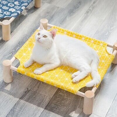 Elevated Pet Bed Dog Cat Cot Portable Raised Cooling Pet Sleeping Cozy Lounger