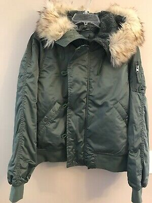 NWT AMERICAN EAGLE Misses Bomber Fleece Hood Jacket Black//Gray S M L Available