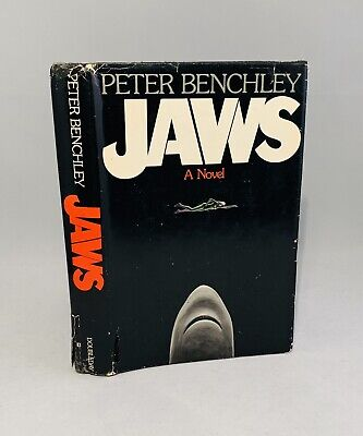 Jaws-Peter Benchley-SIGNED w/ DRAWING!!-First/1st Edition/Early Printing-RARE!!