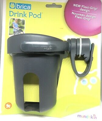 BRICA Drink Pod Stroller Cup Holder NEW Flexi Grip Design Munnchkin