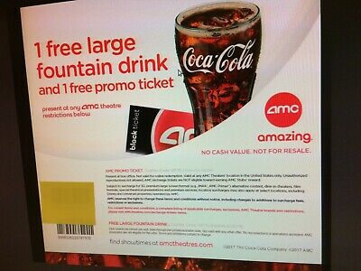 2 AMC Theater Black Movie Tickets only; NO DRINK, NO POPCORN