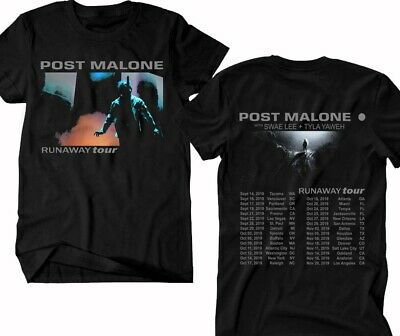 POST MALONE t-shirt Runaway Tour 2019, Hip Hop RnB Rap Music Tee !!!