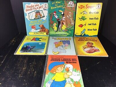 A Happy Day Book Lot 4 Dr. Seuss Book Mix Lot 3 Hardcover Illustrated Children