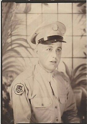 RARE WWII CAMP HOOD TEXAS 507TH TANK DESTROYER BATTALION SOLDIER w PATCH SCARCE