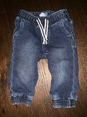 Baby Gap Outlet Boys 6-12 Months Knit Pull-On Denim Pants/Bottoms