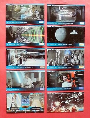 10 TRADING CARDS TOPPS WIDEVISION STAR WARS GUERRE STELLARI Figurine 1994 LUCAS