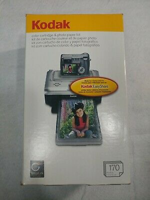 KODAK Color Cartridge & Photo Paper Kit PH-170 5 Cartridges 170 Photo Paper New