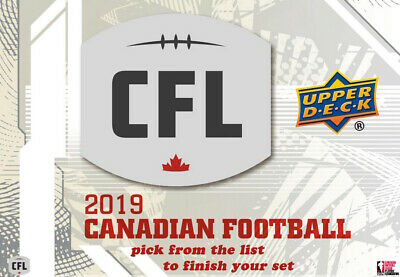 2019 Upper Deck Cfl Base Cards Pick From The List Finish Your Set