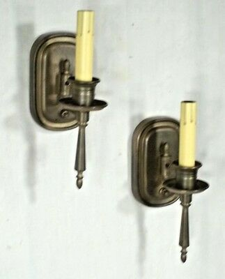 PAIR OF EARLY 20th CENTURY BRASS TORCHIERE SCONCES