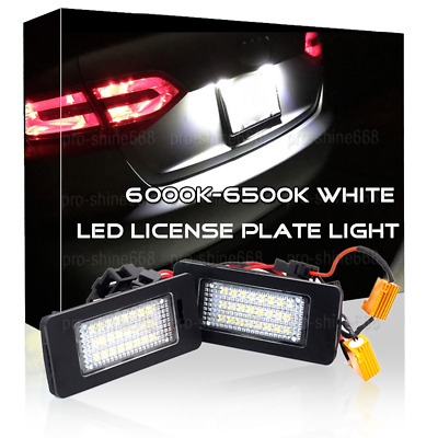 2pcs 6000K White LED Number License Plate Light Lamp FIT for Skoda Octavia Sedan