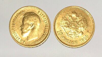 1899 Old Russian 10 Roubles Gold Coin