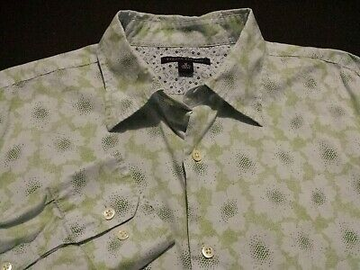 Banana Republic Mens Medium Long Sleeve Button-Front Multicolor Floral Shirt