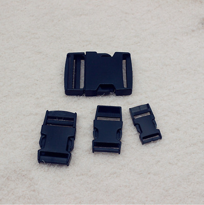 Delrin Plastic Side Release Buckle Clips/Sliders For Webbing 20mm/25mm/38mm/50mm