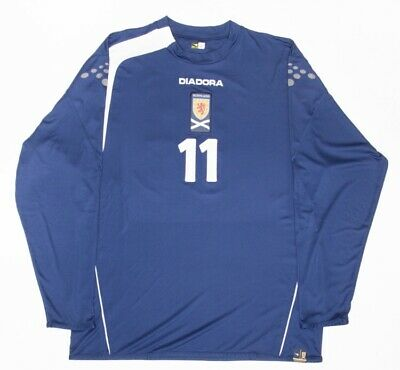 Scotland 05-06-07 Diadora Match Worn Issue Home Shirt #11 McFadden Motherwell