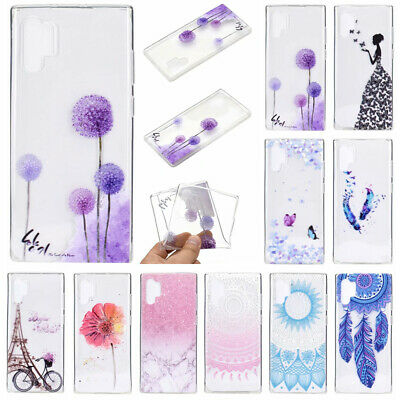 For Samsung Galaxy Note 10 Plus S10+ Phone Case Painted Slim Soft Silicone Cover