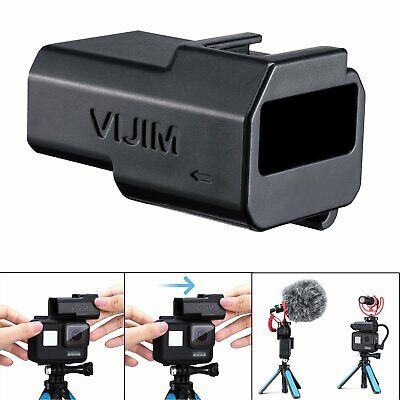 VIJIM ABS Heigh Increase Mic Adapter Holder Connector For GoPro Hero 5 6 7 New