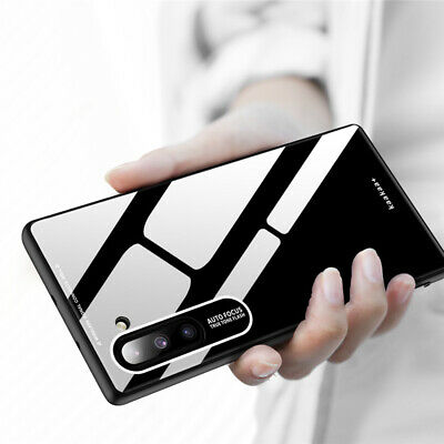 For Samsung Galaxy Note 10 Plus Slim Tempered Glass Hybrid Hard Back Case Cover
