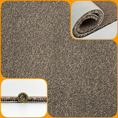 HARDWEARING 11mm Thick Brown Felt Back 4m Wide Carpet £6.99m²
