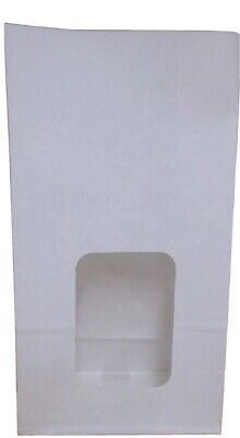White Paper Cookie/Cake Bags With Window. Choose Your Amount. Free Postage