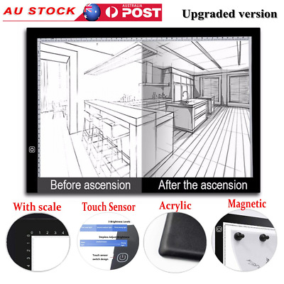 Magnetic A3 A4 LED Light Box Copy Tracing Board Pads Digital Drawing Tablet USB