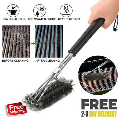 BBQ Grill Brush Heavy Duty Barbecue Cleaner Tools For Handle Weber Charcoal Gas