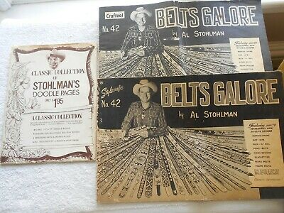 Al Stohlman's Classic Collection Of Doodle Pages(11)-Belts Galore(No.42)-Two
