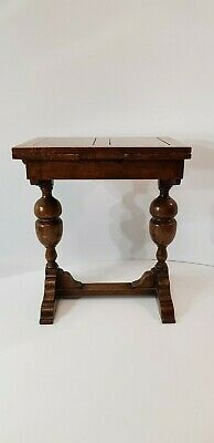 Antique Miniature Oak Draw-Leaf  Table