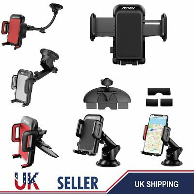 Mpow Universal 360 Adjustable Car Mount Holder Mobile Phone Cradle CD Slot Stand