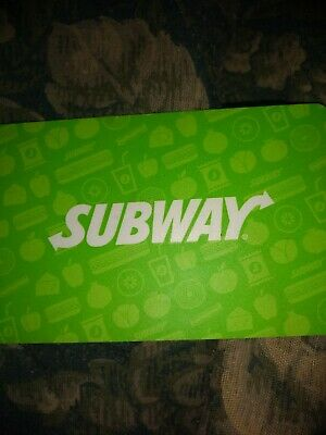 Subway Used Collectible Logo w/ Neon Green Background Gift Card NO VALUE