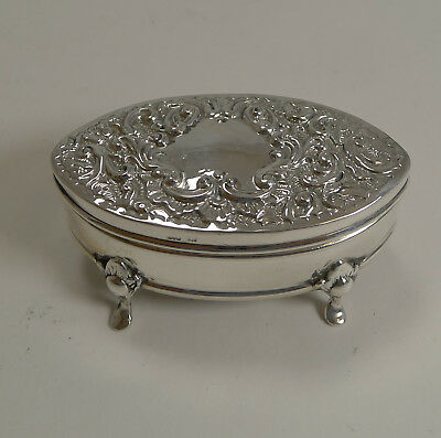 Antique English Sterling Silver Ring Box 1905