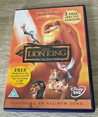 Disney The Lion King Special Edition (Dvd, 2003) Kids Family Fun Film Girls Boys