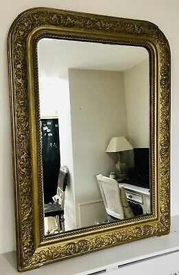 LOVELY FRENCH ANTIQUE 19th CENTURY GILTWOOD MIRROR C1900