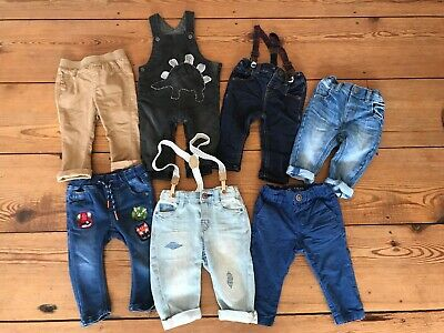 NEXT Baby Boys Jeans/Dungarees/Chinos/Bottoms BUNDLE 6-9 MONTHS