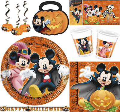 Disney Mickey Mouse Minnie Mouse Orange Halloween Party Supplies & Decorations