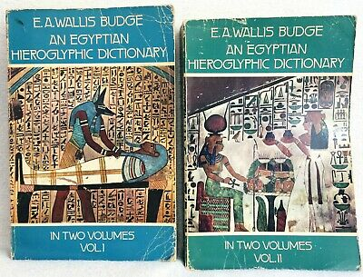 Egyptian Hieroglyphic Dictionary: With an Index of English Words, King List,v1&2