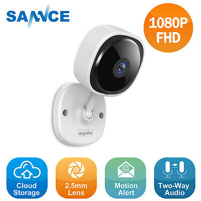 SANNCE Full 1080P Wireless Home IP Security Camera 2MP 180° Panorama 2 Way Audio