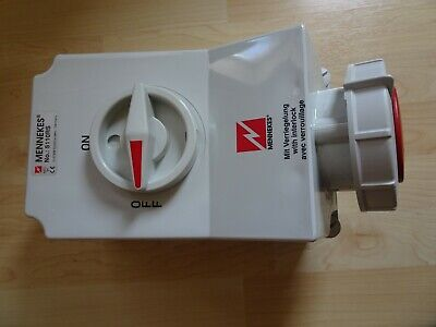 Mennekes Switched IP67 Industrial Interlock Socket 3P+E 6h 3 phase wall mount