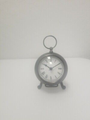 Pottery Barn Pocket Watch Clock with Easel Small Bronze Finish