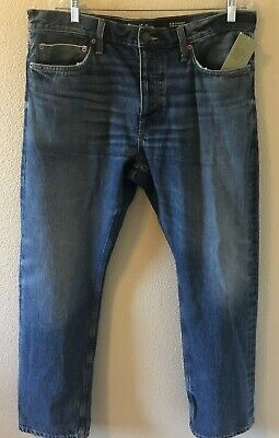 Goodfellow & Co Men's 38x30 Slim Straight Fit Selvedge Buttonfly Denim Jeans NWT