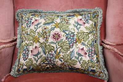 Beautiful Vintage Feather Filled Country House Tapestry Cushion