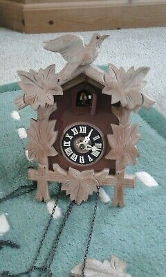 Vintage Black Forest Wooden Cuckoo Clock,RARE pale wood version,alfons herr