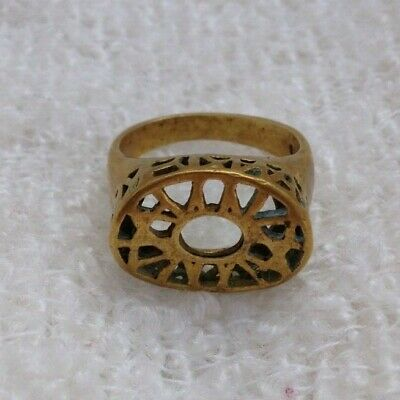 Rare Roman Extremely Artifact Ancient Magnifique Ring Authentic Bronze Old